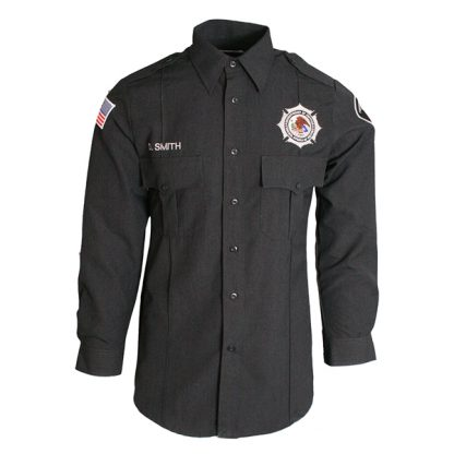 Long sleeve charcoal gray BOP Uniform Class B
