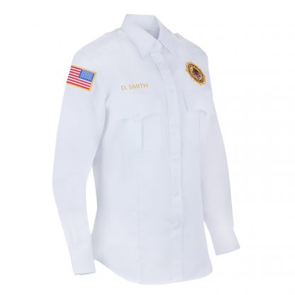 Federal Bureau of Prisons Uniform Long Sleeve white shirt