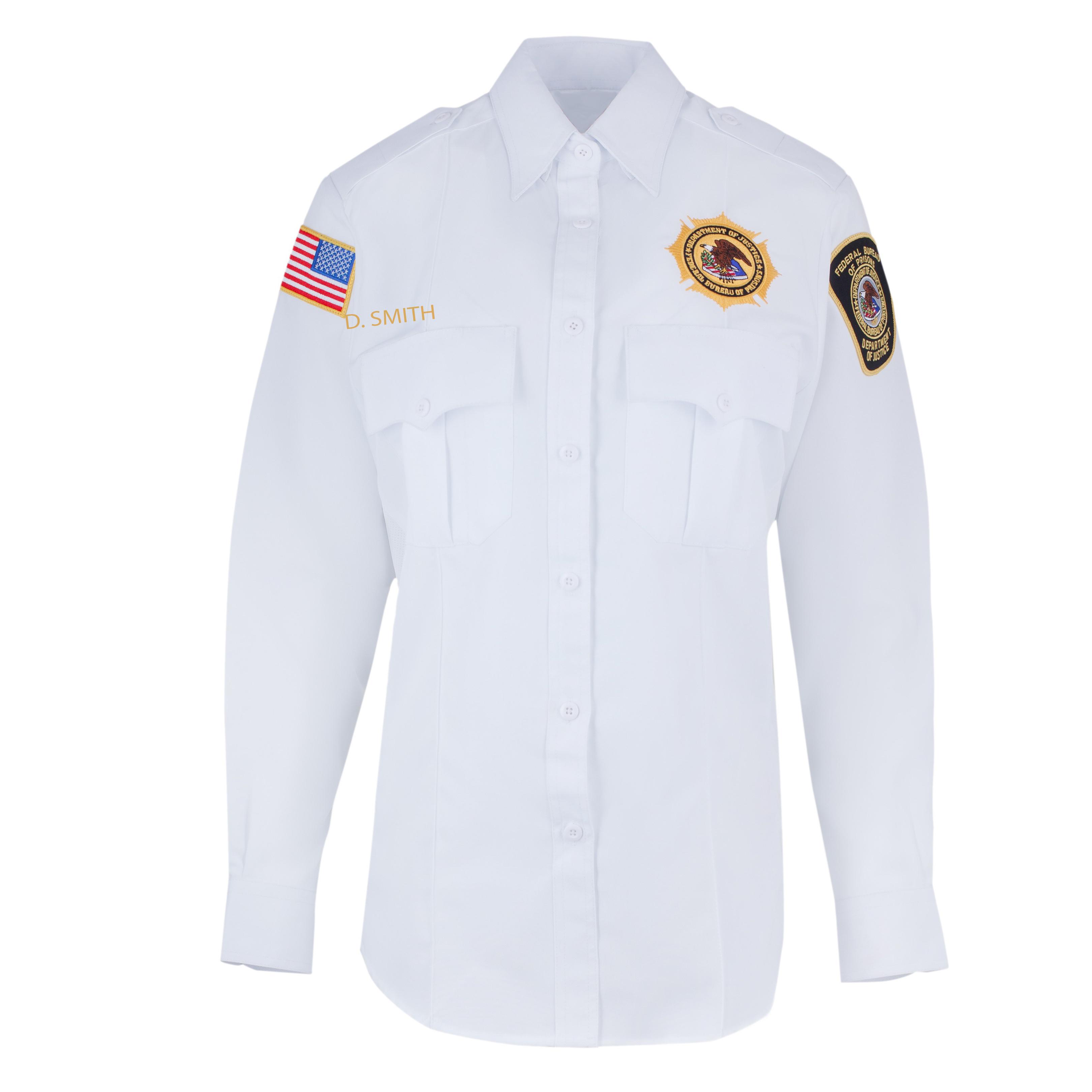 Womens Long Sleeve Dress Shirt White Class A Lieutenants Unitec