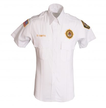 Federal Bureau of Prisons Uniform Short Sleeve white shirt
