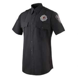 Short Sleeve Charcoal Gray BOP Uniform Shirt