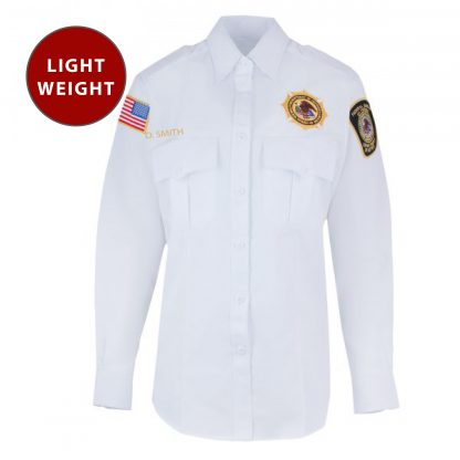 Mens Lightweight Unitec BOP Long Sleeve Work Shirt Class A