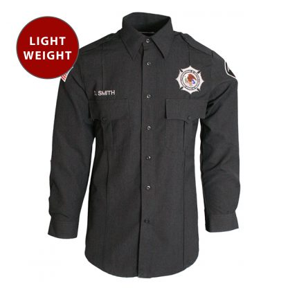 Mens Lightweight Unitec BOP Long Sleeve Work Shirt Class B