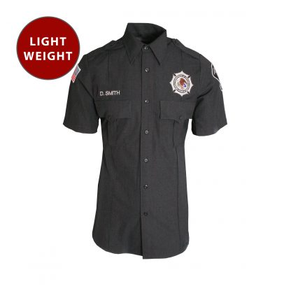 Mens Lightweight Unitec BOP Short Sleeve Work Shirt Class B