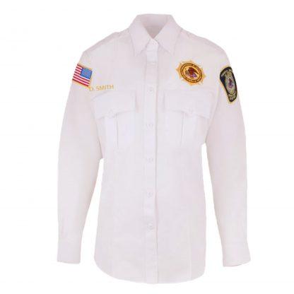 BOP Uniform White Class A Long Sleeve Shirt