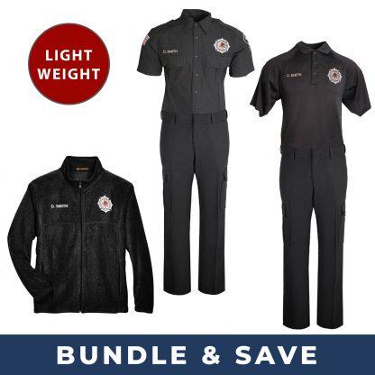 Fall Favorite BOP Uniform Bundle includes lightweight shirts and pants, polo shirt and fleece jacket