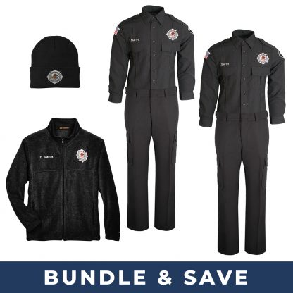 First Frost BOP Uniform Bundle includes heavyweight shirts and pants with fleece jacket and er knit hat