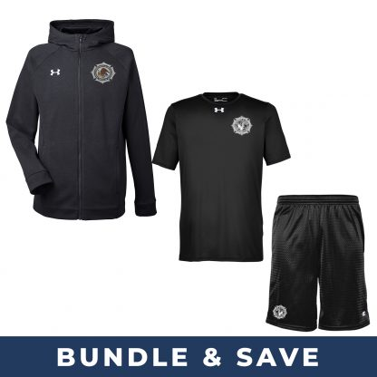 BOP Bundle with Under Armour T-Shirt and Sweatshirt and Champion Shorts