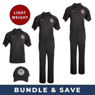 Polo and Pants BOP Uniform bundle with lightweight pants polo shirts and baseball cap hat